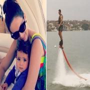 Jacqueline Bracamontes de vacaciones con la familia